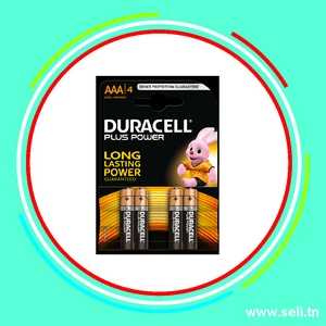 PACK 4 PILES DURACELL 1,5V AAA LR03.Arduino tunisie