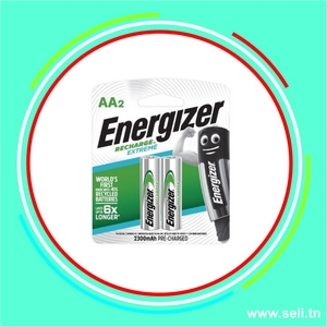 PILE ENERGIZER RECHARGEABLE 1,2V AA - 2300mAh NH15 (BP2 2 PILES).Arduino tunisie