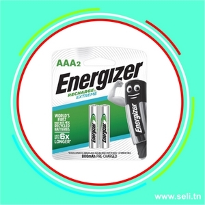 PILE ENERGIZER RECHARGEABLE 1,2V AAA  800mAh NH12 (BP2 2 PILES).Arduino tunisie