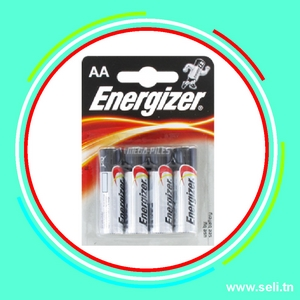 PACK 4 PILES ENERGIZER 1,5V AA LR6.Arduino tunisie