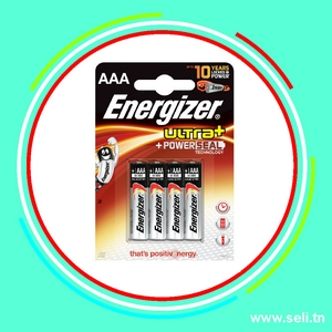 PACK 4 PILES ENERGIZER 1,5V AAA LR3.Arduino tunisie