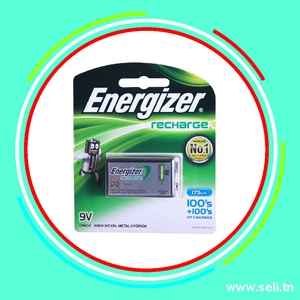 PILE ENERGIZER 9V RECHARGEABLE 175mAh.Arduino tunisie