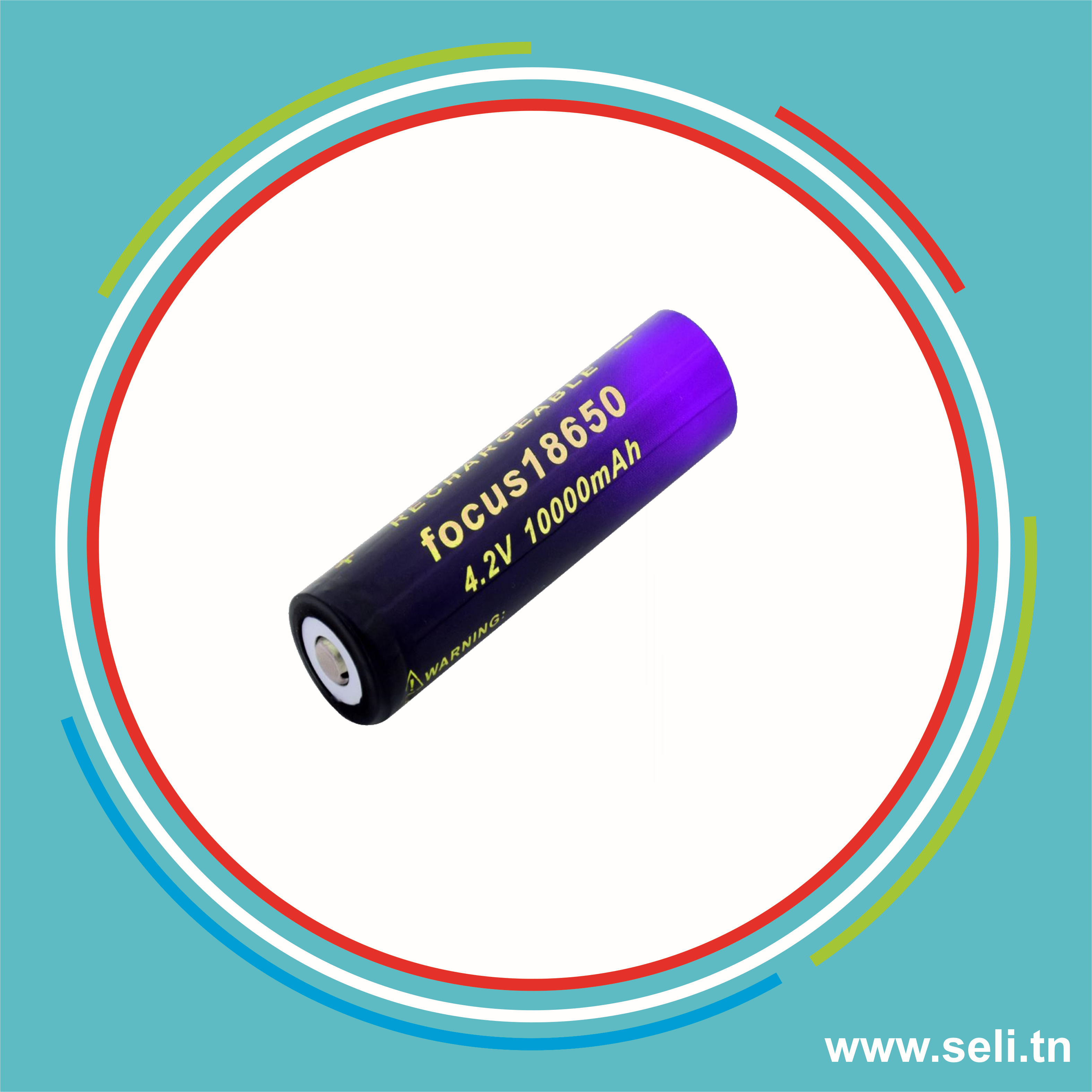 18650 PILE LI-ION RECHARGEABLE 2200MAH 3.7V.Arduino tunisie